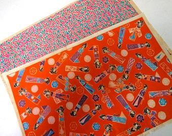 2pc 30s Japanese vintage CHIYOGAMI WASHI paper