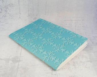 Notebook blue damask sketchbook