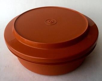 Vintage Orange Tupperware Storage Container