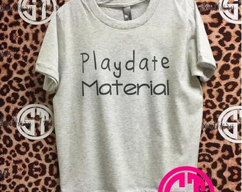 Playdate Material youth crew neck tri blend t shirt next level brand xs, sm, md, lg, xl