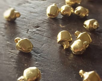 Odessa  Small (6mm) Bright Gold Jingle Bells (25)