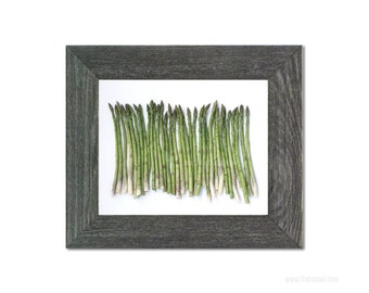 Asparagus Art | Food Photography | Kitchen Photography | Wall Art | Home Decor | Green | Treat Yo Self
