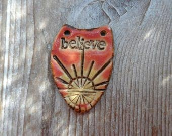 Faith Pendant Earthy Bohemian Style