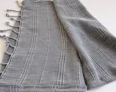 Hand Towel Peshkir Hand loomed vintage inspired in grey soft
