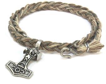 Mjolnir Pendant - Viking Jewelry, Hemp Necklace with Thor's Hammer Pendant - Asatru Jewelry, Men's Celtic Jewelry