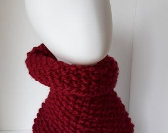 Hand Knit Chunky Cowl Scarf Chunky Neck Warmer Soft Warm Woolen