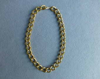 1980s Chunky Gold Tone Chain Link Necklace