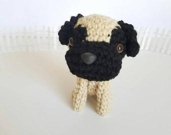 ON SALE  Pug Stuffed Animal. Stuffed Pug. Stuffed Animal Pug. Pug Stuffed Toy. Black Pug Plush.  Plush Pug Dog.
