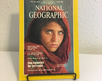 Vintage Magazine, National Geographic, June 1985. Iconic Photograph, Afghanistan