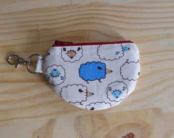 Mini Pouch, Earbud Pouch, Change Pouch, Sheep, One of a Kind