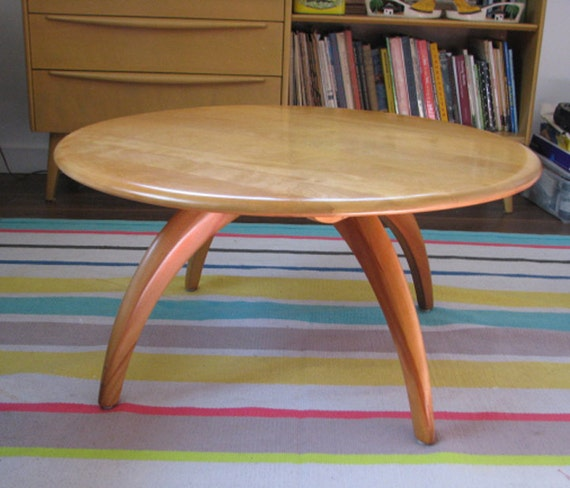 Heywood Retro Coffee Table: Heywood Wakefield Coffee Or Cocktail Table W Revolving Top