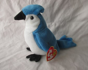 Vintage Beanie Baby 1997 Rocket the Blue Jay
