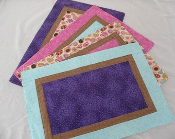 Cookie Placemats /Pastel Placemats/Set of 4 Placemats for Spring