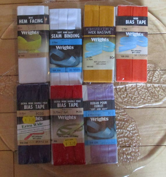 Wrights 19 Packages, Bias Tapes, Hem