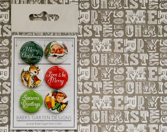 "Badges / Flair buttons ""Vintage Christmas"""