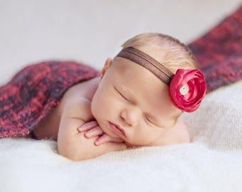 open weave wrap, baby blanket wrap, baby girl headbands, flower headbands, newborn props, girl photo props, newborn baby wrap