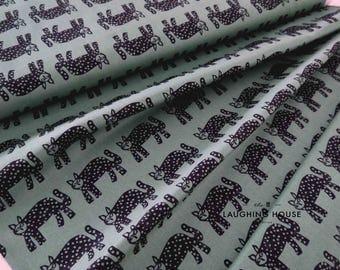 Jerry (Deep Blue Teal) - Lucky - Lotta Jansdotter - Windham Fabrics - 1 Yard