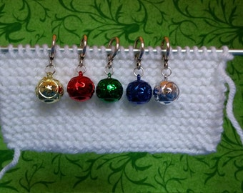 Superlarge Star-Stamped Ornament Stitch Markers