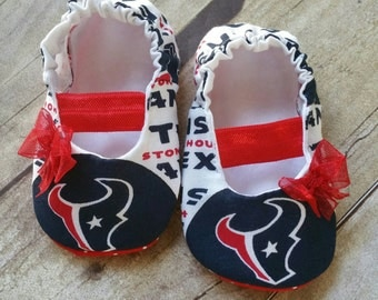Houston Texans Baby Maryjane Booties