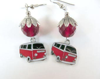 Nostalgic V W van earrings
