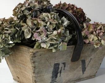 Vintage French Rustic Wooden Garden Trug....Herb Container...Vegetable Storage...Potatoe Basket...