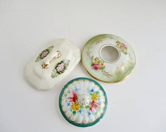Vintage Porcelain Lids Only YOUR CHOICE Replacement Lids Collectibles