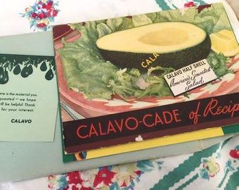 Vintag c1949 CalAvo Book of Recipes and c1942 CalAvo-Cade of Recipes with Original mailer envelope