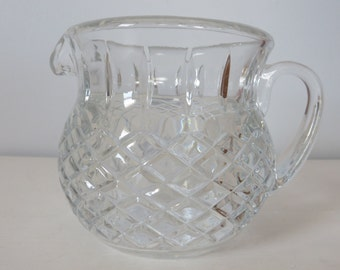 Small Cut Crystal Glass Pitcher