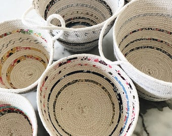 Coil Rope Fabric Basket