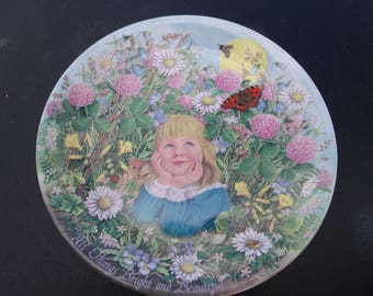 """Davenport Pottery """"All Things Bright & Beautiful"""" 1986 Limited Edition COA, Mint - Vintage Collectors Plate"""