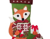 Woodland Fox Felt Stocking