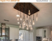 HOLIDAY SALE 18 Pendant Chandelier - Industrial Dining Room Light, KItchen Island Chandelier