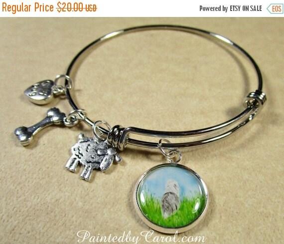 sale sheepdog charm bracelet by