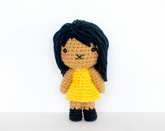 Jane - Roseberry Town Collection - Original Amigurumi Plush Doll by Roseberry Arts