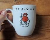Hand Painted Tea-Wok Mug - Star Wars - Ewok