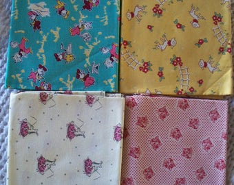 Lambs, Pigs, Cats and Hare-Tortise Fat Quarters