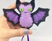 Felt bat, Gothic bat, fruit bat, goth ornament, purple bat, hanging bat, bat gift, vampire bat, goth decor, bat plush, bat ornament, bat