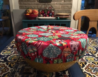 large fabric bowl cover
