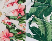 Palm & Tropical Hibiscus Pouches / Set of 10