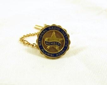 Vintage National Radio Institute Tie Tack, Vintage Radio Collectors, Vintage Radio, Radio Alumni Association Tie Tack, S93