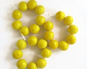 Custom Listing for Paula, X-Large yellow glazed beads, African beads, 16 beads, made in South Africa