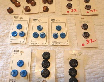 Vintage Buttons on Cards