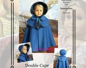 """PDF Pattern KDD18- """"Double Cape & Bonnet""""- Makes 18"""" Doll Clothes~An Original Design By KeepersDollyDuds"""