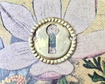 Little Vintage Brass Key Hole Escutcheon