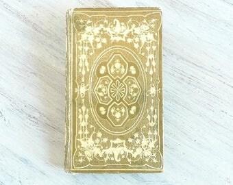 Unique Guest Book, Elegant Wedding Book, Personalized Blank Book, Anniversary Gift, Keepsake Memento, Ornate Guestbook, Rebound Antique Book