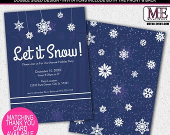 Let it Snow, Holiday Party Invitations