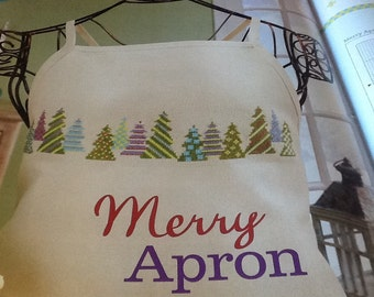 Merry Apron - Cross Stitch Pattern Only