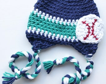 Team Inspired Crocheted Hat | Baseball Hat