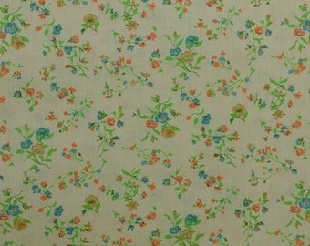Vintage Floral Fabric, Cotton Fabric, Cotton Floral Fabric, Vintage Fabric by the Yard, Fabric Yardage - 1 1/8 Yard - CFL2104