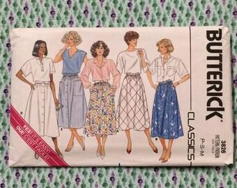 Skirt Pattern / Flared Skirt Pattern / A Line Skirt Pattern / Vintage Skirt Pattern / Petite Skirt Pattern / Butterick 3826